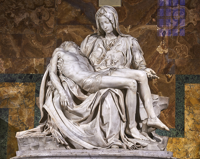 Pietà von Michelangelo. Petersdom im Vatikan