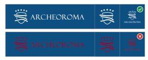 brand guide archeoroma roma colori sfondo