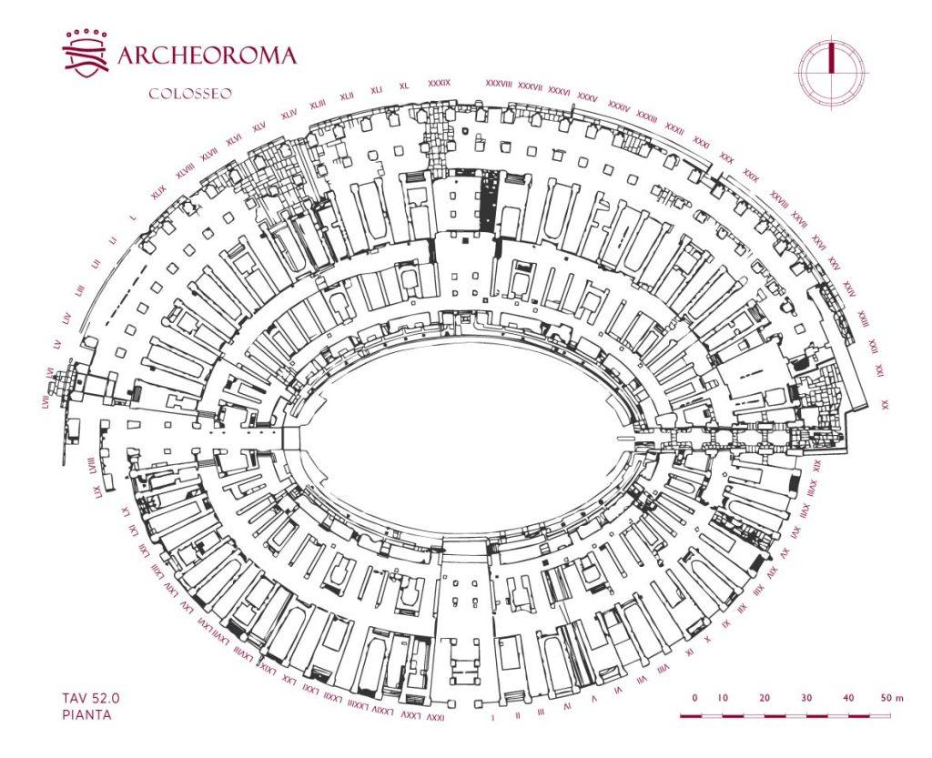 Pianta del Colosseo (Anfiteatro Flavio)