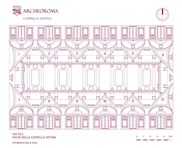Mappa delle Vele: Volta della Cappella Sistina